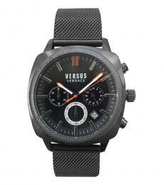 Versus Versace Black Chronograph Logo Watch