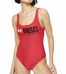 Diesel Red Backless Swimsuit