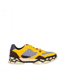 Jimmy Choo Multi Yellow Diamond X Sneakers
