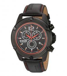 Versus Versace Black Logo Chronograph Watch