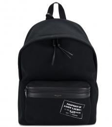 Saint Laurent Black Front Pocket Large Backpack