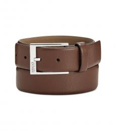 Hugo Boss Khaki Gellot Leather Belt