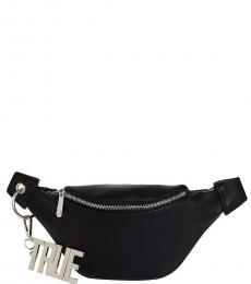 True Religion Black Chain Belt Fanny Waist Pack