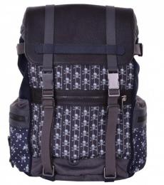 Brown Grey Skull Print Large Backpack