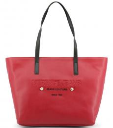 Versace Jeans Red Couture Large Tote