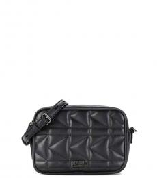 Karl Lagerfeld Black Quilted Mini Crossbody