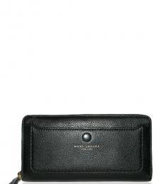 Marc Jacobs Black Zip-Around Wallet