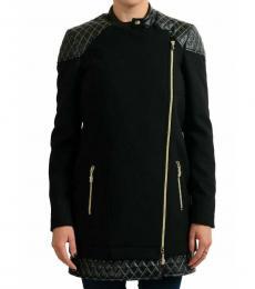Black Full Zip Basic Coat