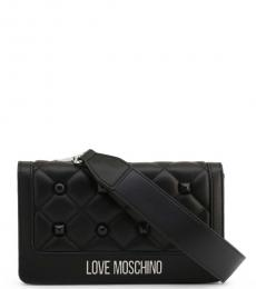 Love Moschino Black Studded Small Crossbody