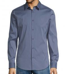Indigo Slim-Fit Long-Sleeve Shirt