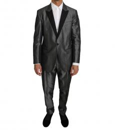 Dolce & Gabbana Metal Patterned Martini 2 Piece Suit