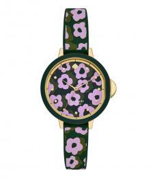 Floral Printed Watch