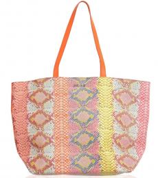 Multicolor Textured Large Tote