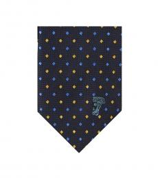 Versace Blue Diamond Tie