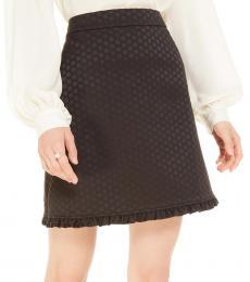 Black Bakery Dot Jacquard Skirt