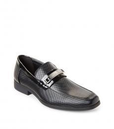 Black Jessie Embossed Loafers