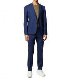 Navy Blue Fitted Two Piece Suit