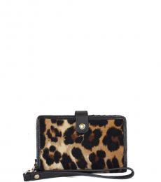 Juicy Couture Leopard Print Tech Phone Wristlet