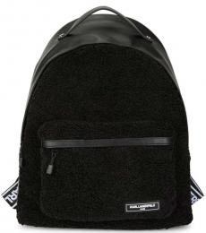 Black Apres-Ski Logo Large Backpack