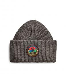 Ralph Lauren Charcoal Heather Polo Sportsman Beanie