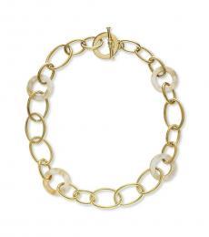 Ralph Lauren Gold Link Horn Necklace