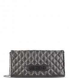 Love Moschino Metal Quilted Clutch