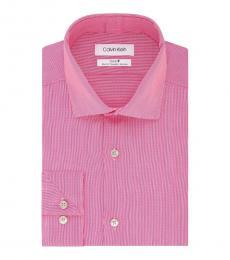 Pink Sorbet Slim-Fit Stretch Dress Shirt