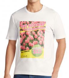 Optical White Tulip Graphic T-Shirt