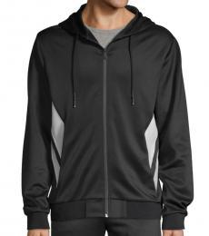 Karl Lagerfeld Black Full-Zip Hooded Jacket