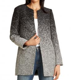 Karl Lagerfeld Black Ombre Textured Topper Jacket