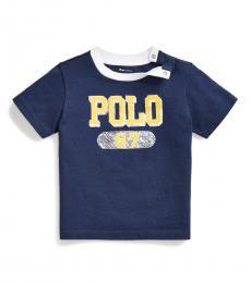 Ralph Lauren Baby Boys Navy Logo T-Shirt