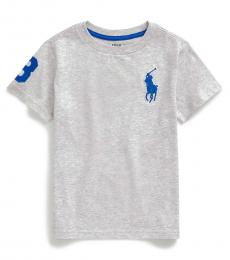 Ralph Lauren Little Boys Light Smoke Big Pony T-Shirt