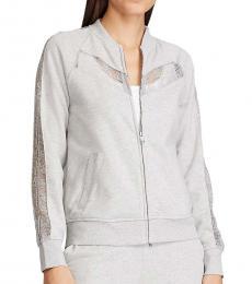Ralph Lauren Pearl Grey Heather Full-Zip Jacket