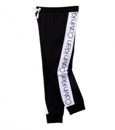 Calvin Klein Girls Black Logo Bold Joggers