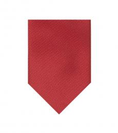Red Solid Micro Textured Tie