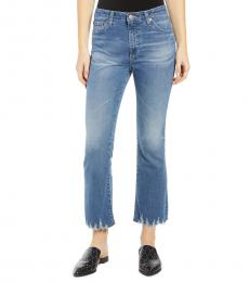 AG Adriano Goldschmied Blue Jodi High-Rise Flare Jeans