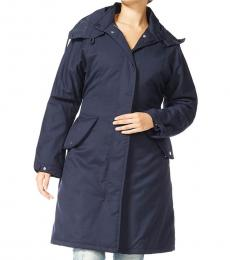 Armani Jeans Dark Blue Hooded Classic Coat