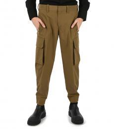 Brown Cargo Pocket Pants
