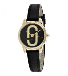 Marc Jacobs Black Corie Logo Watch