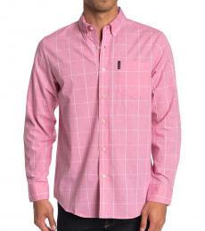 Ben Sherman Light Pink Windowpane Union Fit Shirt
