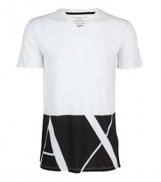 Armani Exchange White Slim Fit Logo T-Shirt