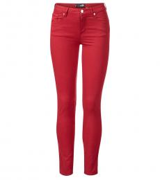 Love Moschino Red Classic Fit Jeans