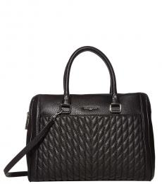 Karl Lagerfeld Black Agyness Medium Satchel