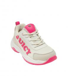 Juicy Couture Girls White Pink Azusa Sneakers