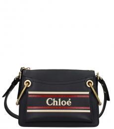 Chloe Blue Roy Medium Shoulder Bag