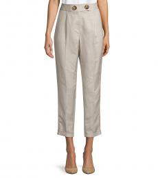Calvin Klein Khaki Pleat-Front Ankle Pants