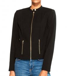 Calvin Klein Black Luxe Stretch Zip Jacket