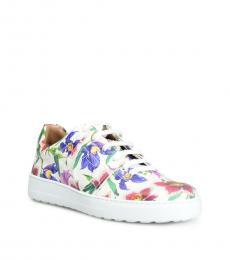 Salvatore Ferragamo Floral Print Fasano Sneakers