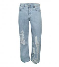 Light Blue Dagh Distressed Straight Jeans
