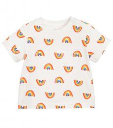 Stella McCartney Baby Girls White Rainbow T-Shirt
